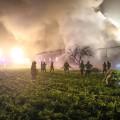 Brand landwirtschaftliches Obejekt